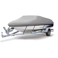 600D PU Coated  Heavy Duty Trailerable Boat Cover,17-19'x96