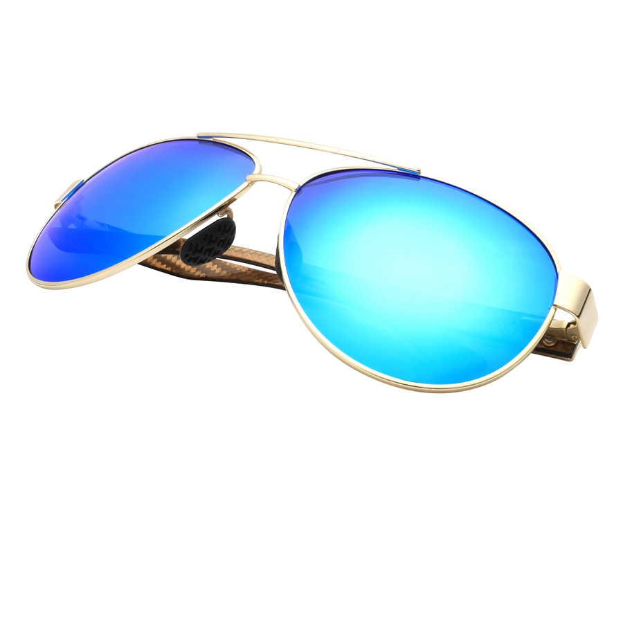 85594973e2ff Men's Polarized Sunglasses 2018 Carbon Fiber Glasses Green Lens Men Driving  Vintage Sun Glasses Women Gafas