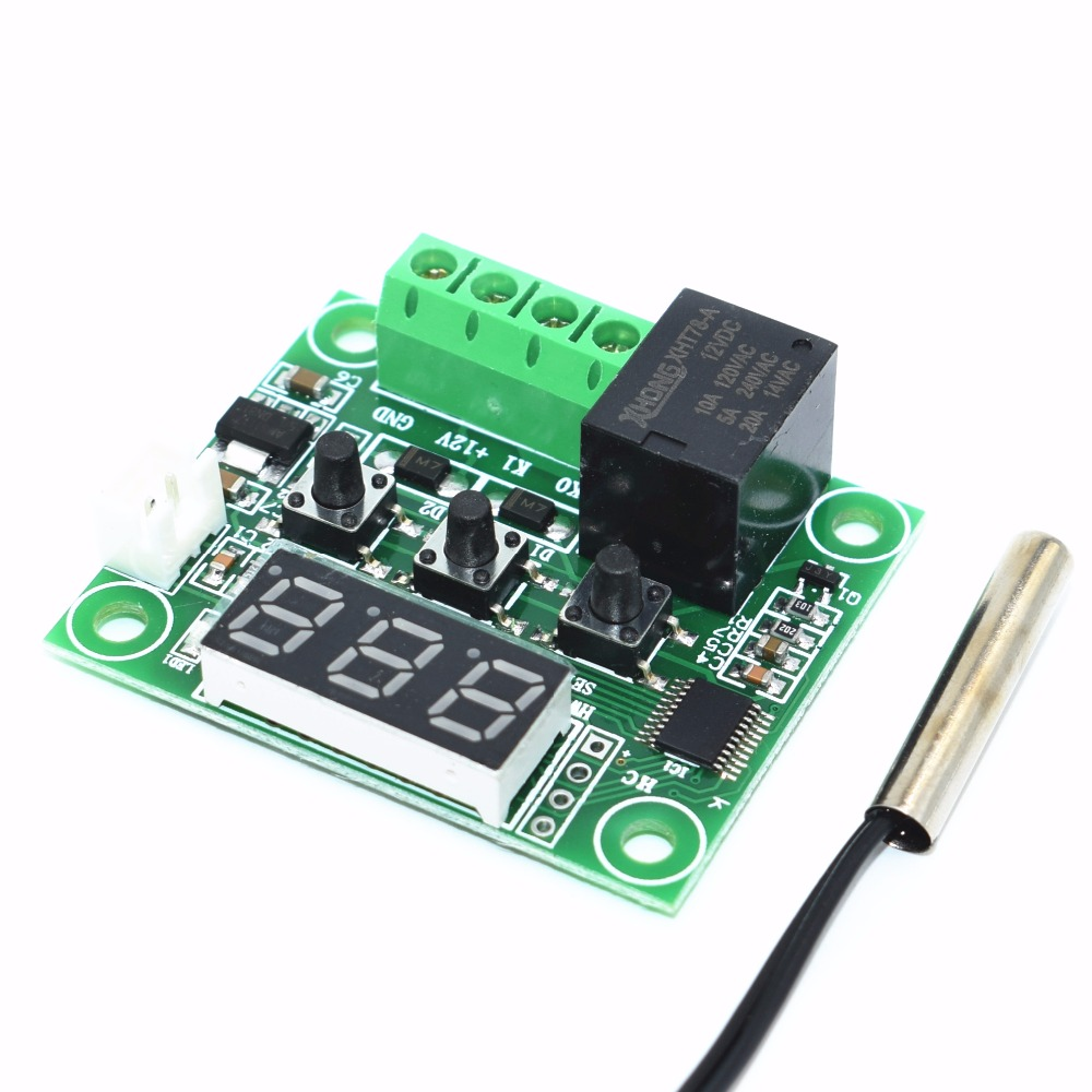 W1209 Blue Red Light Dc 12v Heat Cool Temp Thermostat Temperature Temperaturecontrolled Switch Circuit Diagram And Instructions Control Controller Thermometer Thermo In Integrated Circuits From