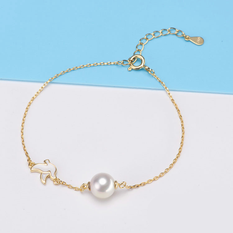 8-9mm Small Natural Pearl Bracelets For Women Elegant High Luster Round Freshwater Pearl Jewelry Silver S925 Bracelet купить в Москве 2019