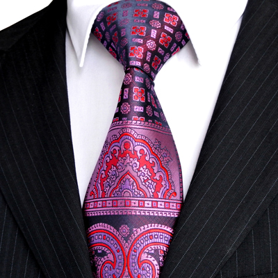Multicolor-Brown-Gold-Yellow-Navy-Blue-Pink-White-Beige-Floral-Mens-Ties-Necktie