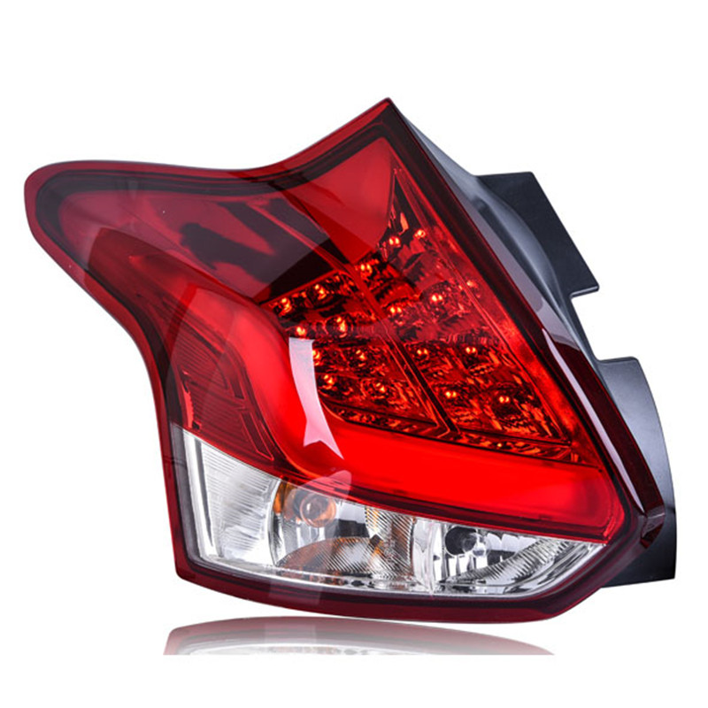 Ownsun 2 pieces Rear L/R DRL Rear Trunk Signal+Brake+Reverse LED Taillights For Ford Focus 2012 car styling tail lights for toyota highlander 2015 led tail lamp rear trunk lamp cover drl signal brake reverse