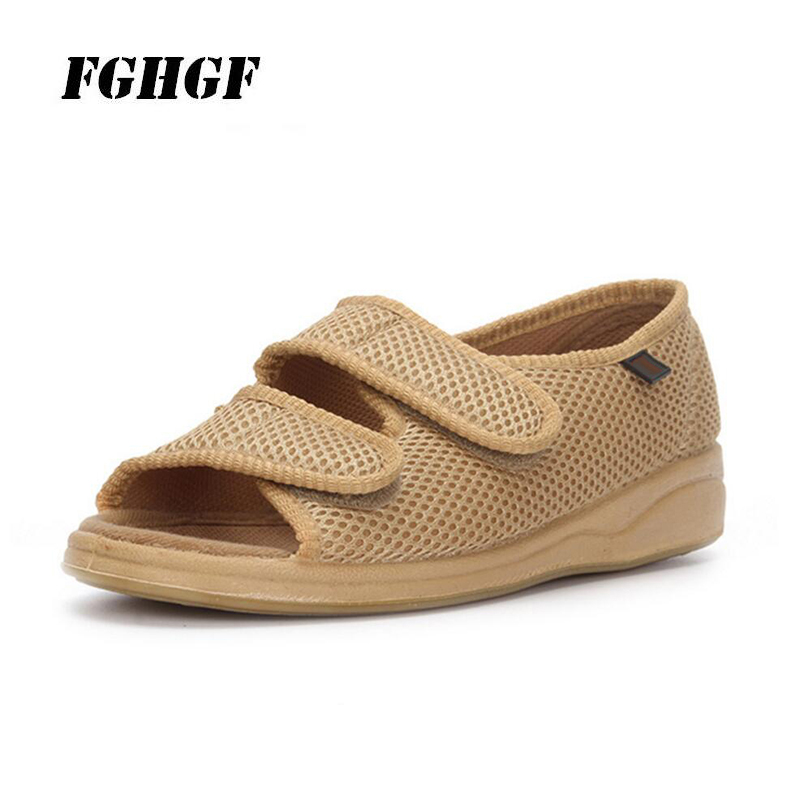Diabetes Widened Shoes For The Elderly Adjustable Size Shoes With Thumb Valgus Deformity After Fat And Swelling Of Feet