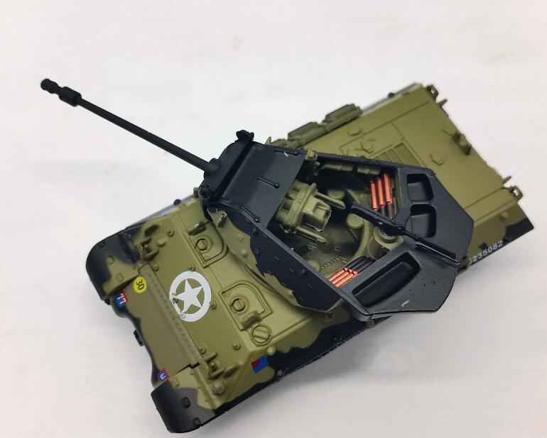 AMER 1:72 World War II Allied M10 Achilles tank destroyer model Alloy model Collection model