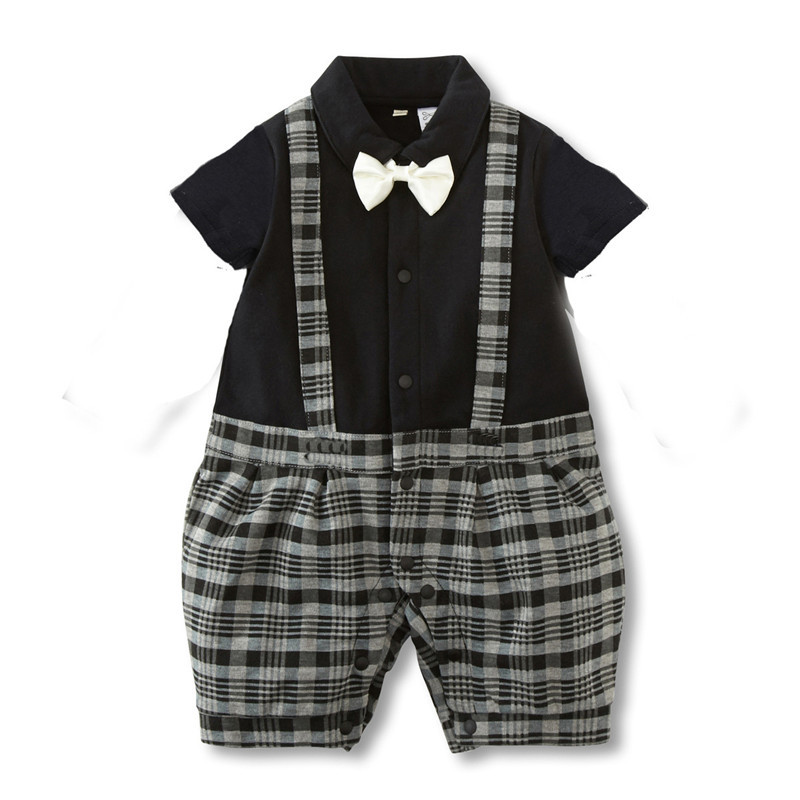 Baby Rompers Summer Baby Boy Clothes Gentleman Newborn Baby Clothes Baby Boy Clothing Roupas Bebe Infant Jumpsuits Kids Clothes baby rompers halloween baby girl clothes spring newborn baby clothes cotton baby boy clothing roupas bebe infant jumpsuits