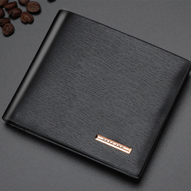 Men Wallets Leather Male Luxury Famous Brand Casual Quality Credit Card Holder Purse Wallet Coin Pocket Black Billetera Hombre 2
