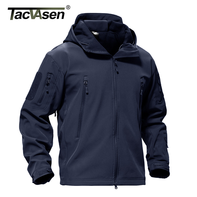 0225210b345be TACVASEN Army Winter Men Jacket Coat Military Tactical Jacket Waterproof  Soft Shell Jackets Navy Windbreaker Hunt Clothes 4XL