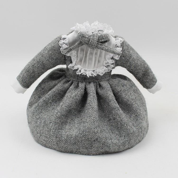 Neo Blythe Doll Warm Grey Lace Dress with Bow 1
