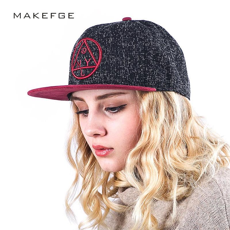Quality Snapback Cap Ny Round Triangle Embroidery Brand Flat Brim