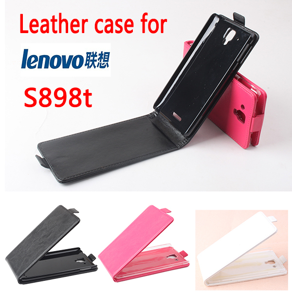 High Quality New Original For Lenovo S898t Leather Case Flip Cover for Lenovo S 898 t Case Phone Cover In Stock