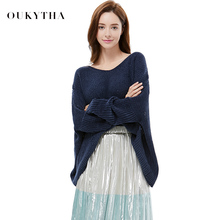 Knitting Unlined Upper New Pattern Autumn And Winter Easy Long Sleeve Unlined Upper Garment V Lead Sweater Out Bat Shirt Jacket