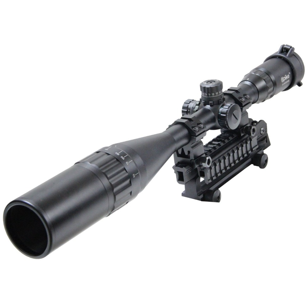 Spike 6-24X50 AOL Tactical Hunting Sniper Riflescope 24 Mil-Dot Reticle Adjustable Green And Red Illuminated Rifle Scope 3 10x42 red laser m9b tactical rifle scope red green mil dot reticle with side mounted red laser guaranteed 100%