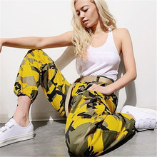 купить!  Женские брюки для женщин 2019 Осень-Зима Уличные камуфляжные брюки Повседневные женские брюки Ковбой
