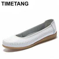 New 2015 Women Flats Spring Shoes Flat Heel Single Shoes Women Genuine Leather Shoes Nurse Shoes