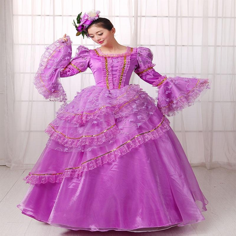 Promoción de Vintage Gótico Vestidos De Púrpura ...