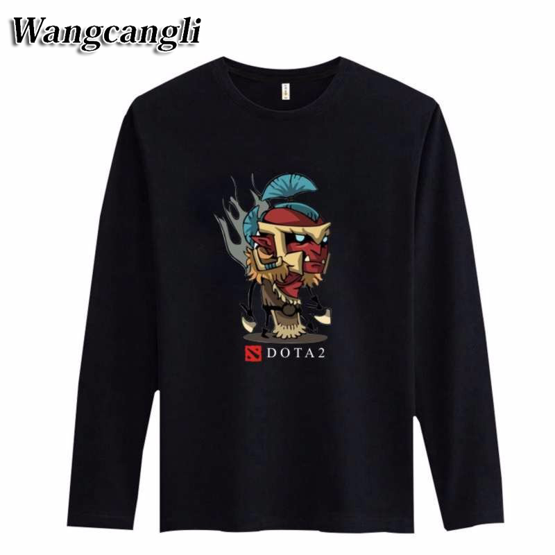 Classic Dota2 Style Cotton Long Sleeve man's T-shirt Cartoon Funny T Shirt...