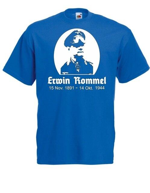 Erwin Rommel Men Cotton Classical Street Wear Personalized T Shirts9