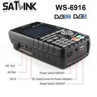 Новый Satlink WS 6916 DVB S2 Цифровой спутниковый Finder метр 1080 P HD конвертор сигнала указатель спутникового ТВ инструмент Satlink WS 6916