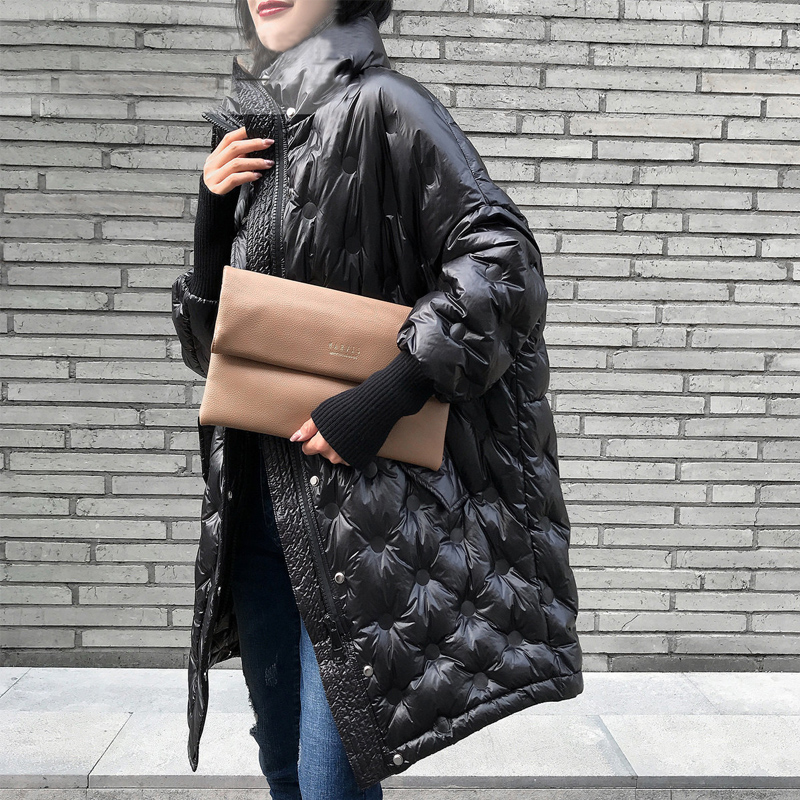 Winter Jacket Women Snow Clothes 2019 90% White Duck   Down     Coat   Female Loose Long Warm Thick Parka Feather Puffer Jacket Oversize