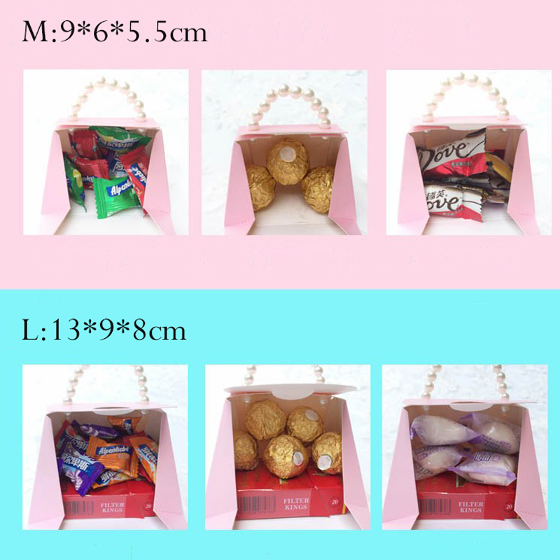 Купить с кэшбэком YOURANWISH 10pcs/lot Portable Party Wedding Favor Candy Boxes Baby Shower Gift Boxes wedding party favor box Candy gift boxes