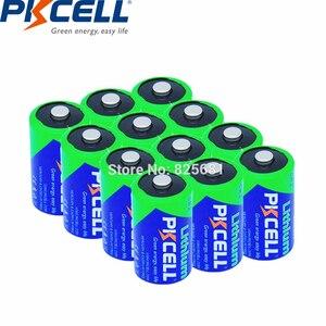 Image 1 - 12 sztuk baterii PKCELL CR2 CR15H270 850mAh 3V li mono2 Batteria dla GPS systemy zabezpieczeń kamera sprzęt medyczny lampa Radio