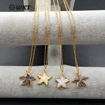 cdc36d4f7255 WT-N993 venta al por mayor encantador colgante de concha Natural collar con  forma de