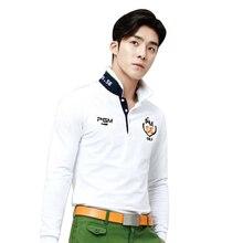 012317 Golf Clothing Men Golf Long Sleeve Polo Shirt Golf Sportwear ropa de golf Tennis Tshirt Breathable White Blue Quick Dry