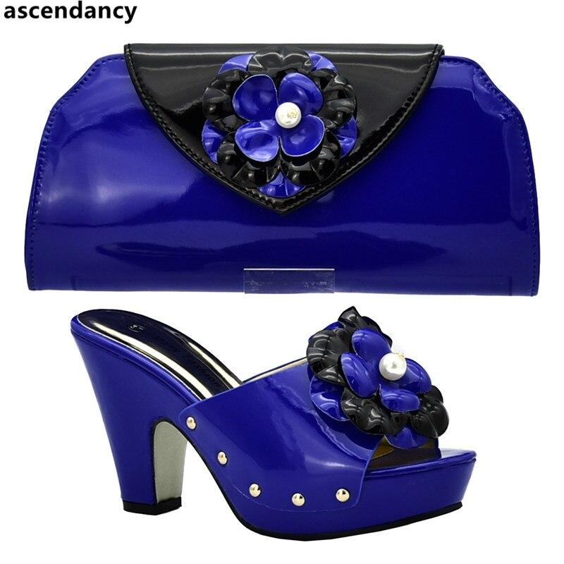 Di E teal colore Africani blu Italiano rosso Partito Le Giallo Set fuchsia  Nuziale Scivolare Con Decorato Scarpe ... 6678749020a