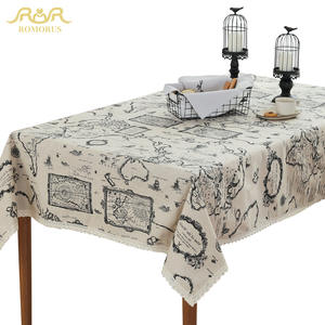 ROMORUS Lace Tablecloths Linen Table Covers Table Cloth