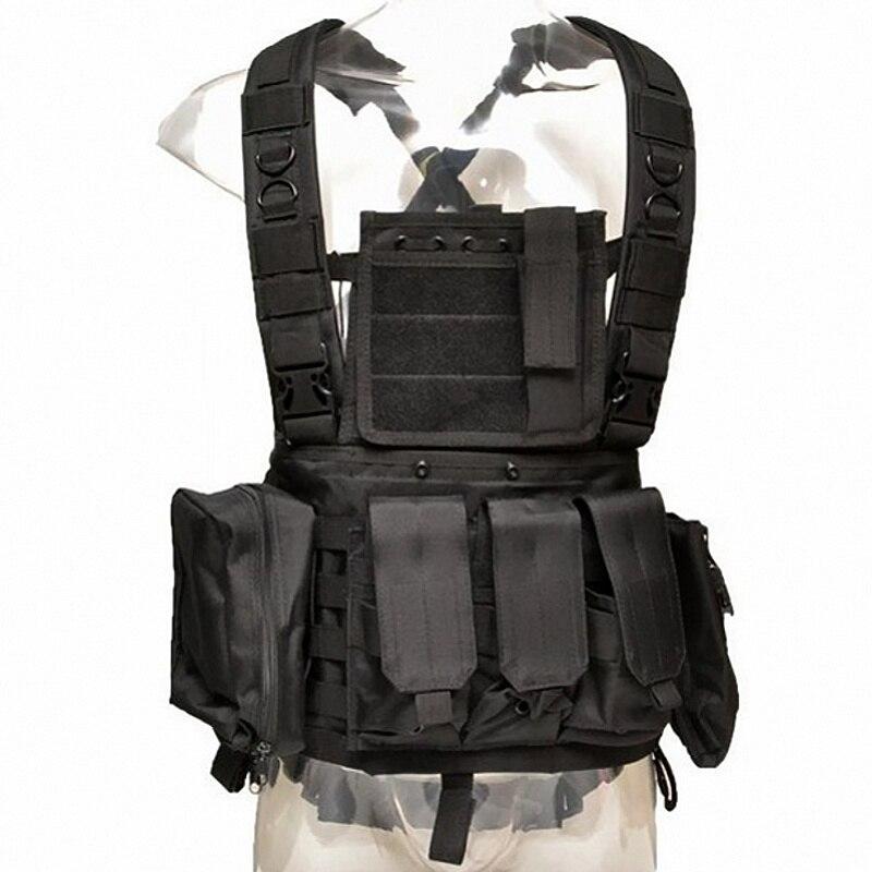 RRV Molle gilets tactiques poitrine militaire Plate-forme armée Combat armure plaque transporteur tir chasse équipement Wargame Paintball Airsoft gilet