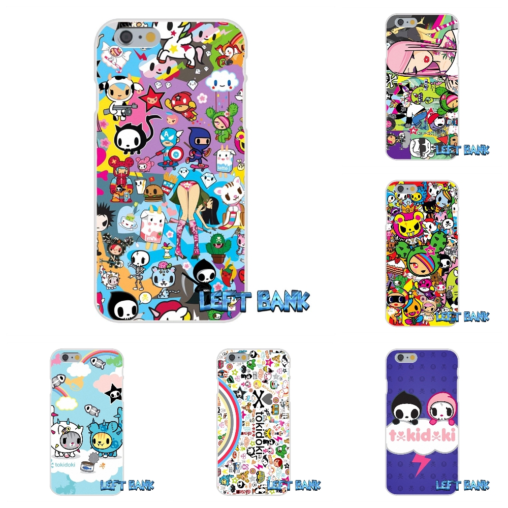 TOKIDOKI JAPANESE CARTOON All Star Soft Silicone TPU Transparent Cover Case For iPhone 4 4S 5 5S 5C SE 6 6S 7 Plus