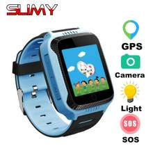 Slimy Q528 GPS montre intelligente bébé enfants avec caméra pour IOS Android téléphone enfant Smartwatch GPS Tracker intelligent électronique PK Q50 Q90(China)