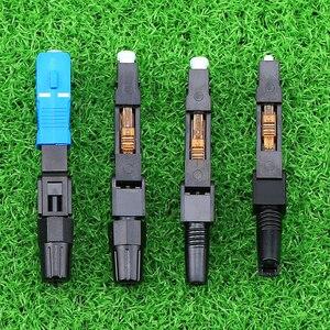 Image 5 - KELUSHI 100 stücke/SC UPC Optic Faser Schnell Anschluss FTTH SC Einzigen Modus UPC Schnelle Stecker