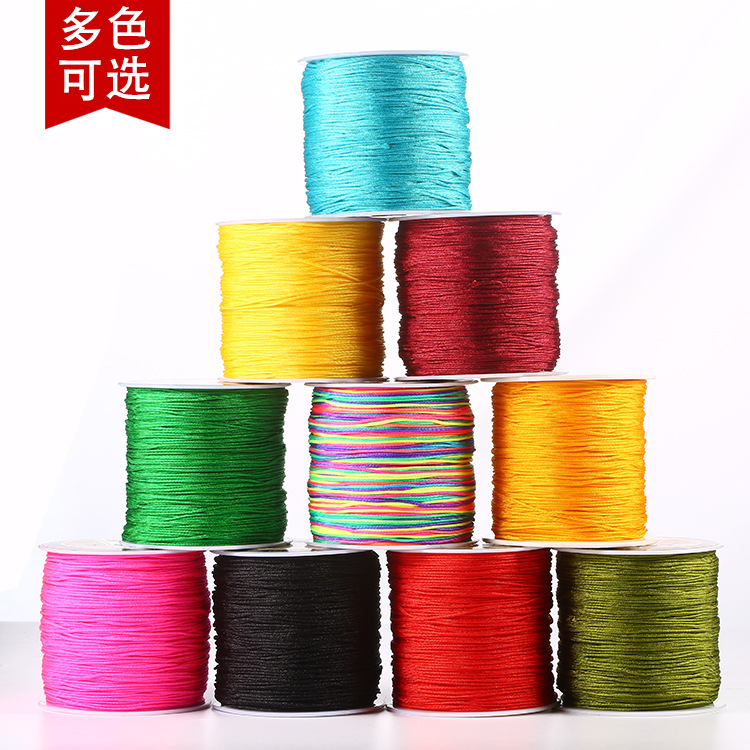 100 Meters One Roll DIY Woven Rope Handmade Material Red Rope Necklace Rope