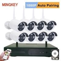 8CH 2 0MP Wifi Security Camera System 1080P Wireless CCTV Kit 3000TVL IP Camera Kit NVR