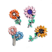 Handmade beading Multicolor flower cloth stickers s handmade beaded clothing DIY accessories decoration