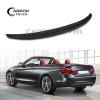 Carbon Fiber Spoilers For BMW F33 Convertible 4 Series 420i 428i 435i F83 Car Back Lip Wing 2014 Present