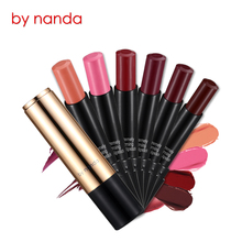 NANDA Waterproof Lip Care Cosmetic Batom Long Lasting Lipstick Moisturizer Wine Red Matte Lipstick Beauty Make Up Rouge Lip Balm