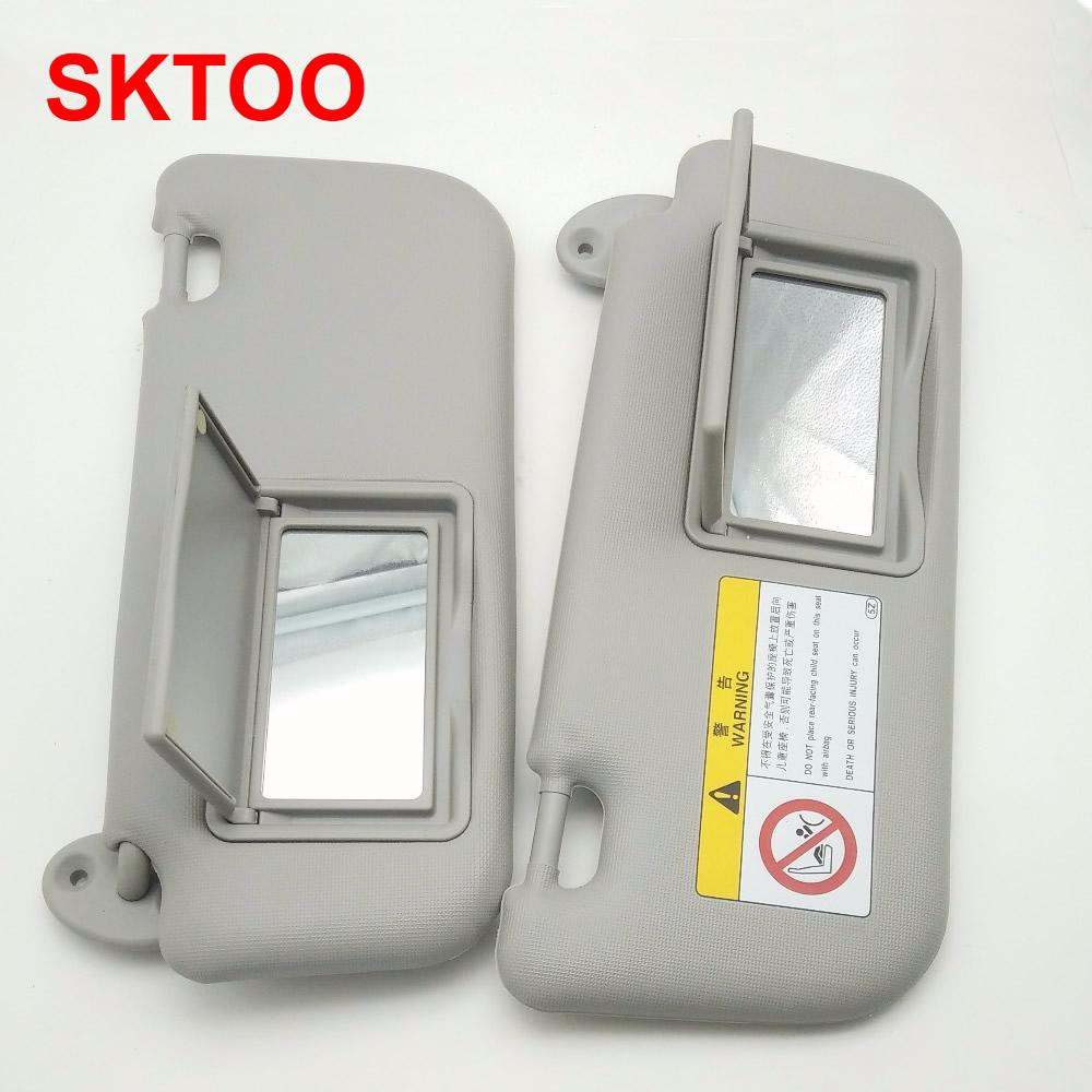 Car Sun Visor Makeup Mirror For Toyota Corolla Levin 2014-2017 Windscreen Sun Visor Auto Accessories Gray