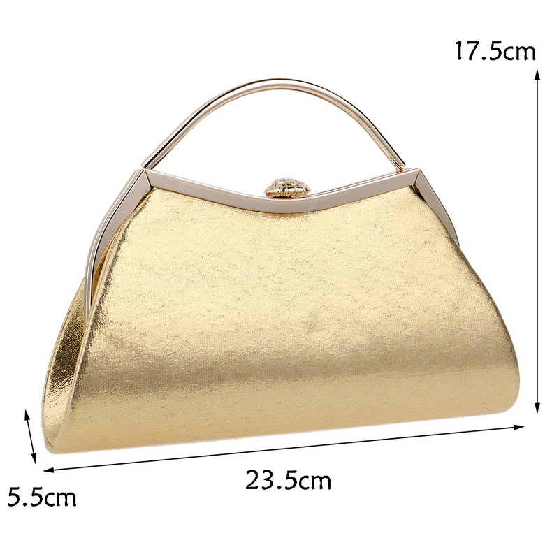 SEKUSA Simple Design Mixed 5 Color With Handle Evening Bags Shell Shaped Chain Shoulder Messenger Handbags For Party Evening Bag