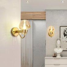 Nordic Glass LOFT LED Wall Lamps Vanity Light Black/gold Wall Lights Bedroom Living Room Corridor Staircase Decorative Lighting недорого