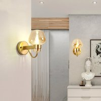 Nordic Glass LOFT LED Wall Lamps Vanity Light Black/gold Wall Lights Bedroom Living Room Corridor Staircase Decorative Lighting