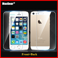 0.3mm 9H Front + Back Tempered Glass For iPhone 5 5S Screen Protector Anti Shatter Film 2014 New Free Shiping