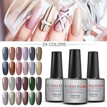 T-TIAO CLUB Color Gel Nail Polish Set Nails Soak Off Manicure Top Base Coat UV LED Gel Varnish Nail Art Design Manicure Lacquer недорго, оригинальная цена