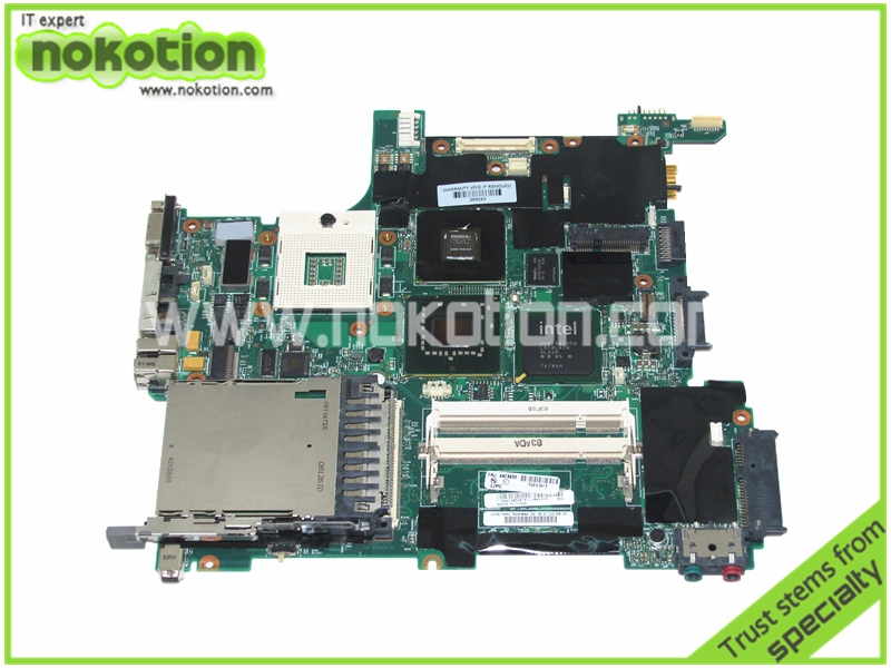 NOKOTION FRU 44C3933 Laptop Motherboard For Lenovo Thinkpad R61 T61 mother boards 965PM DDR2 NVS 140M Graphics Mainboard nokotion fru 63y1878 48 4cu06 031 laptop motherboard for lenovo thinkpad t510 qm57 quadro nvs 3100m board mainboard