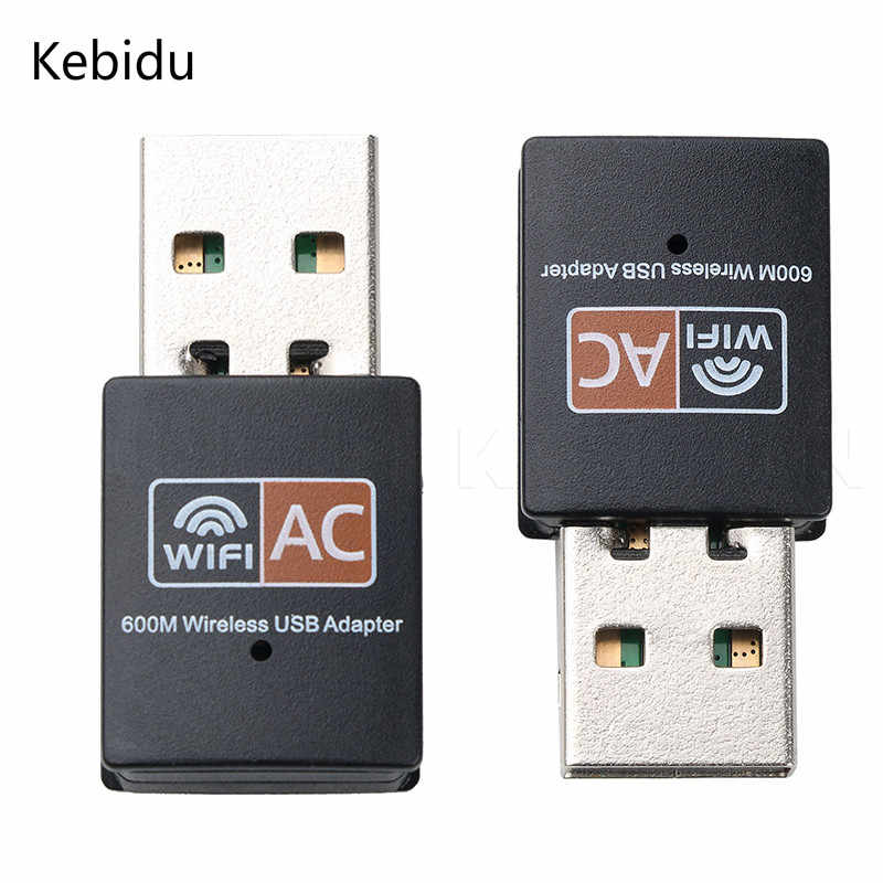 kebidu USB WiFi Adapter 600Mbps Wifi Antenna PC Network Card Dual Band 2.4+5.8Ghz usb Lan Ethernet Receiver