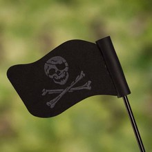 Mayitr Black Skull Flag Car Antenna Pen Topper Aerial Ball Decor Toy Roof Decoration