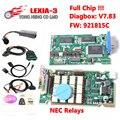 Venda quente V7.83 Com Firmware 921815C Lexia3 Com Diagbox com total de chip Lexia 3 PP2000 V48/V25 para Cit-de-geot Peu roen Lexia-3