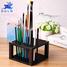 Фотография Bgln 96Holes Penholder Painting Brush Pen Holder Rack Display Stand Support Holder Paint Brush For Drawing Art Supplies