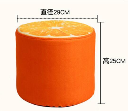 29*25 CM moderne lavable Fruit tabouret enfants chaussures tabouret dessin animé canapé tabouret